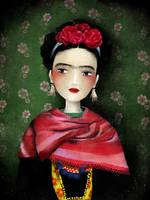 Frida Kahlo by AnneJulieAubry
