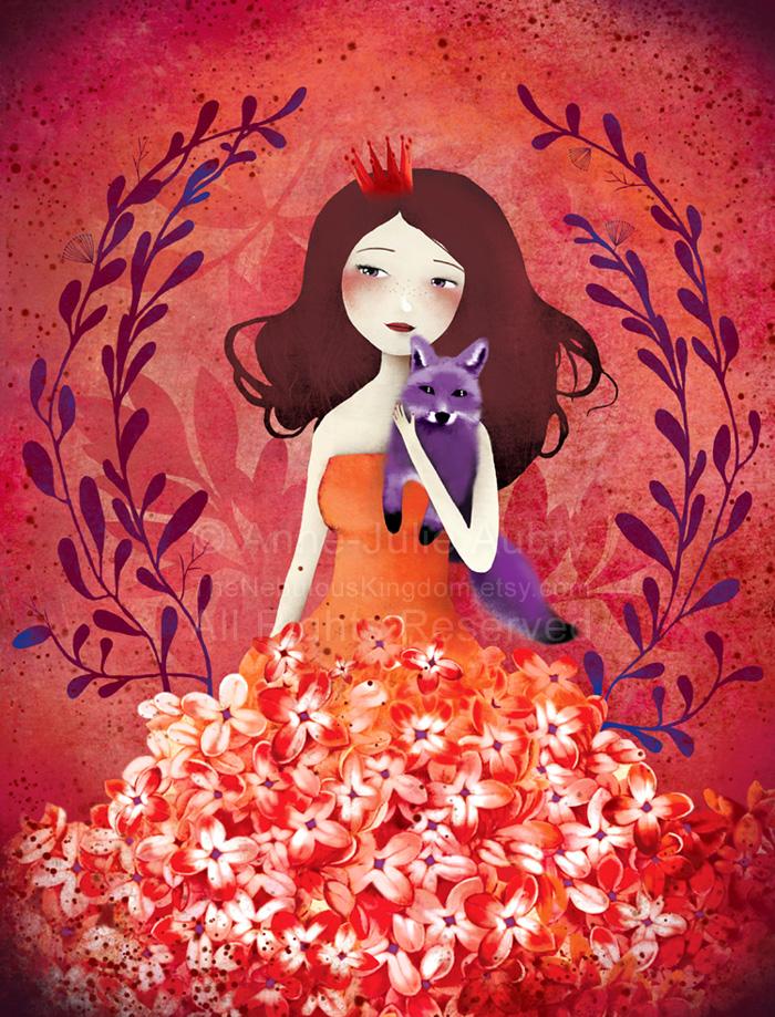 Purple Fox by AnneJulieAubry