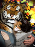 #whenhermustacheticklemyface#tiger#cat#love