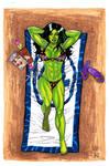 She-Hulk at the beach