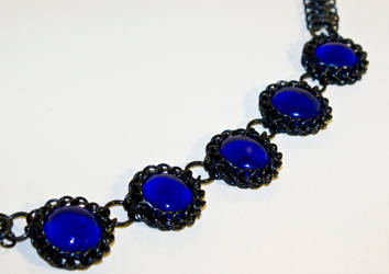 Midnight Wrap Stone Necklace 2 by eel-grass