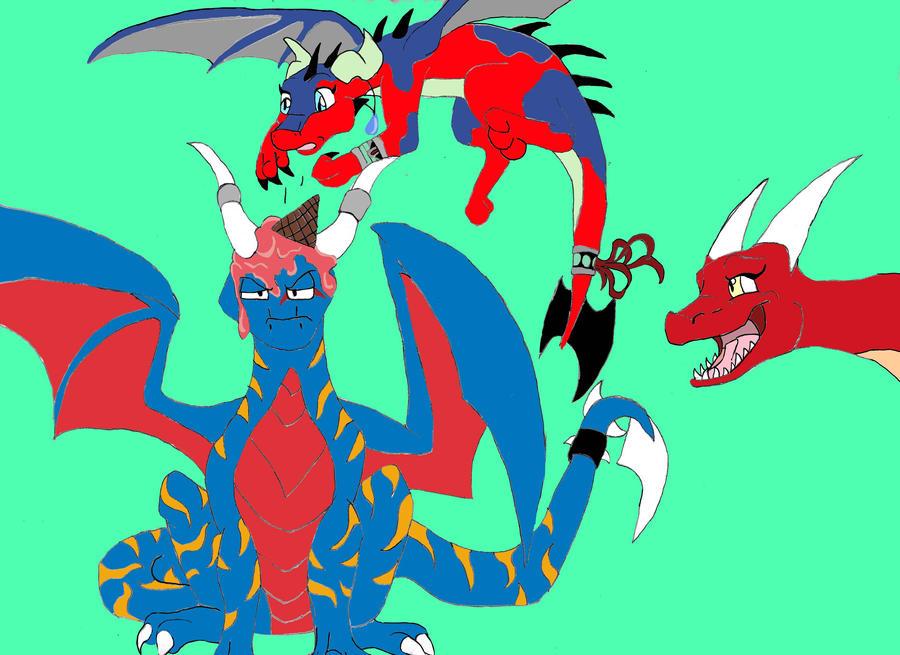 Birthday Mess by Chibi-Dragoness