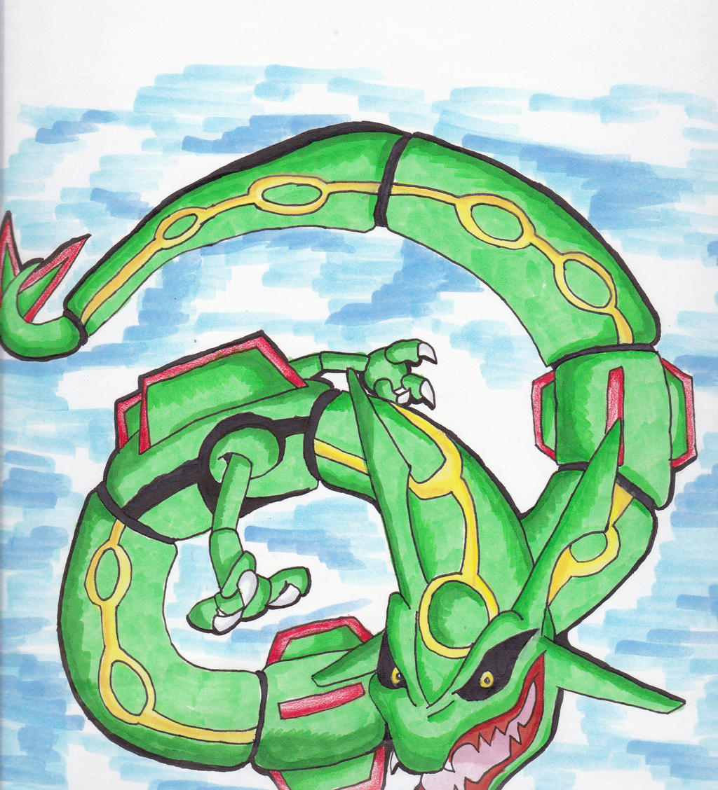 Rayquaza by Chibi-Dragoness on DeviantArt