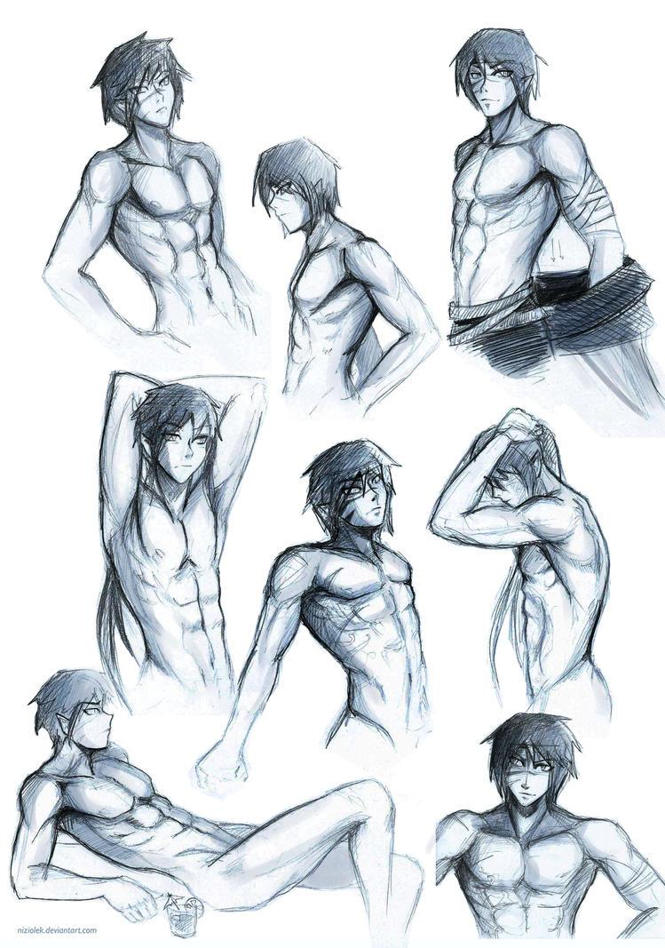 Male body study by niziolek