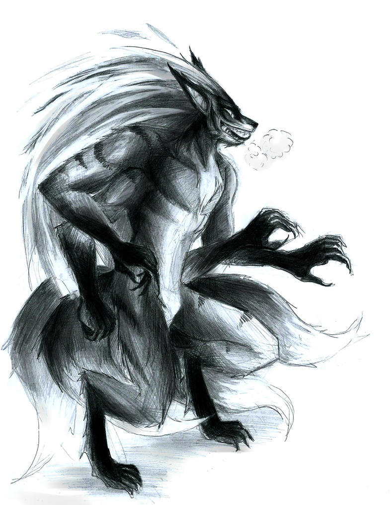 This is an image of Inventive Demon Fox Drawing