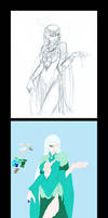 Snow Queen: step by step
