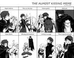 Almost kissing meme: Aria and Ziza