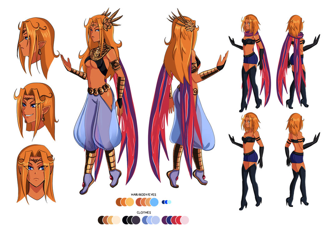 Character Design: Aria Ighaan by niziolek