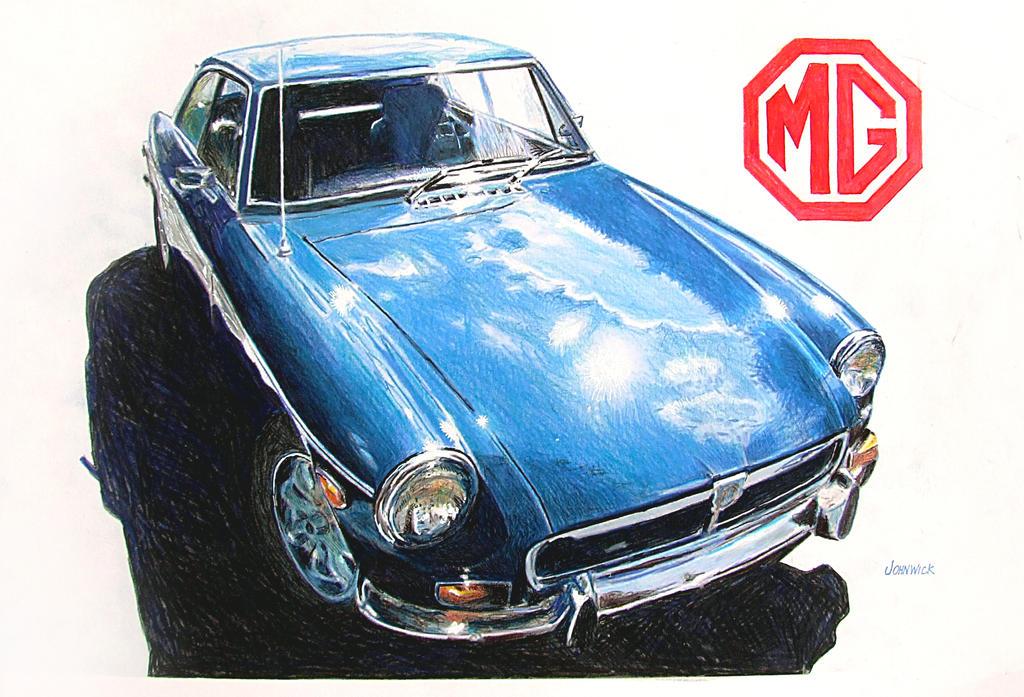 MGB-GT by johnwickart