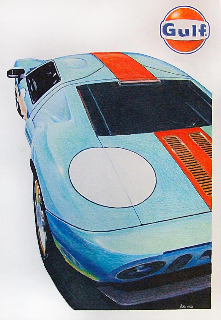 Gulf Ford GT by johnwickart