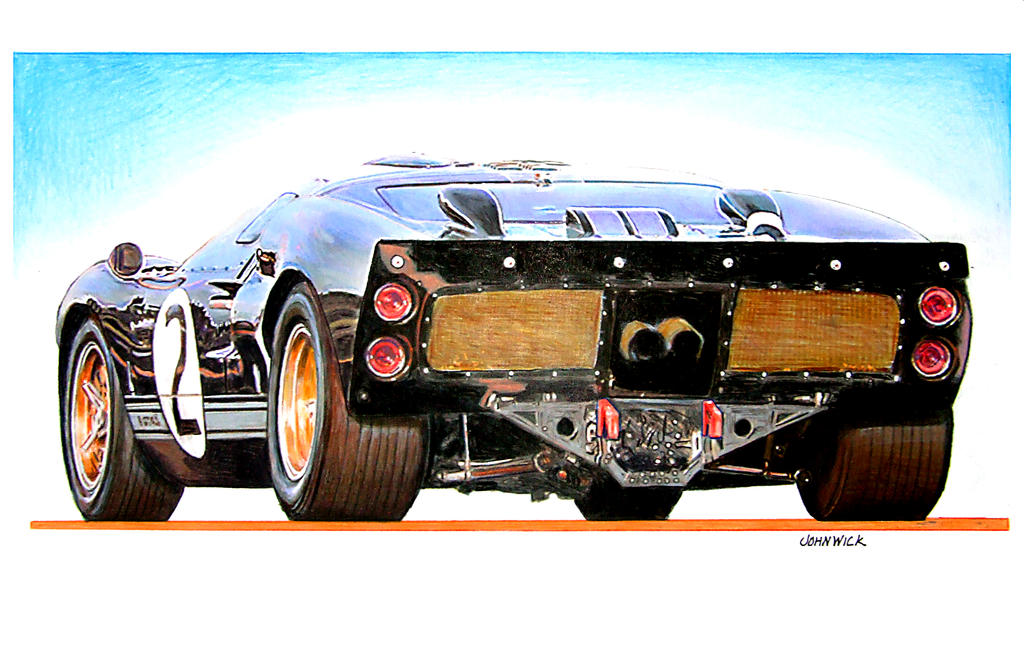 Ford GT MK II by johnwickart