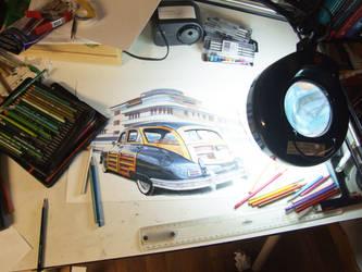 Art Decco WIP by johnwickart