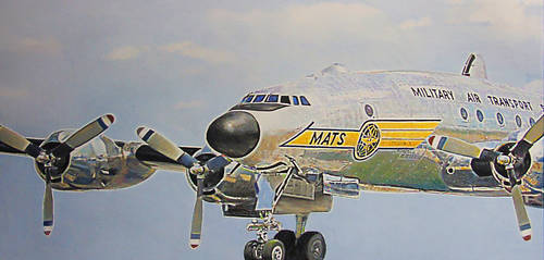 Lockheed Constellation by johnwickart