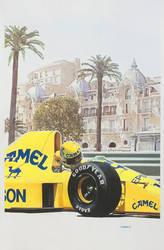Ayrton Senna, Monaco by johnwickart