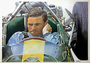 Jim Clark 1964 by johnwickart