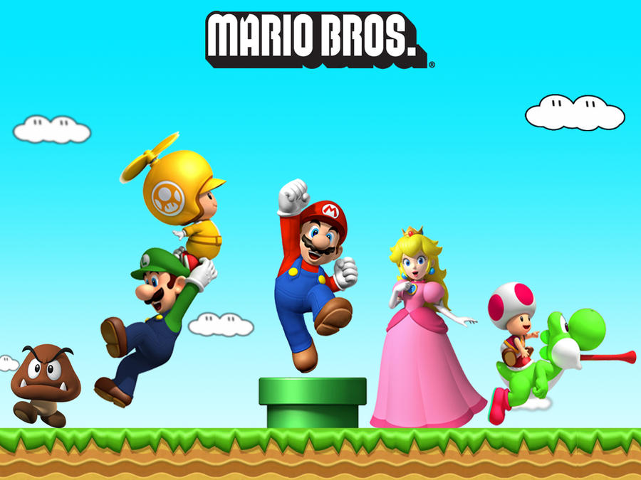 Wallpaper - Mario Bros by ArkadyNekozukii on DeviantArt