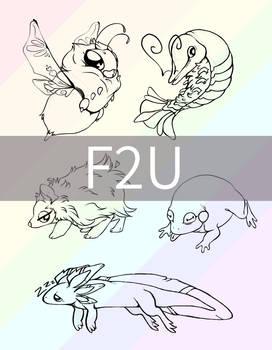F2U frog bee shrimp hedgehog axolotl base