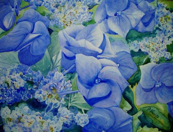 Blue Nightingale by p-e-a-k