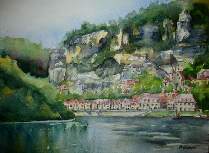 View of La Roque-Gageac by p-e-a-k