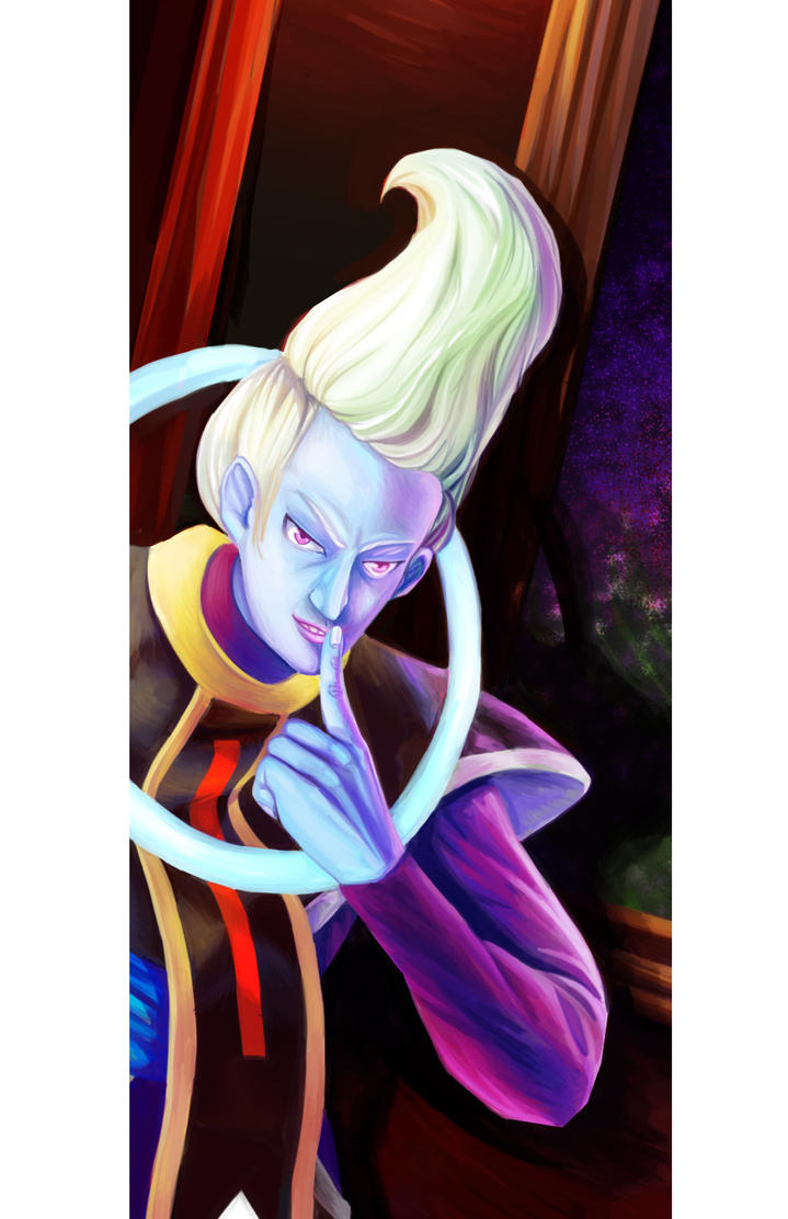 Whis DBS: Detail of a larger painting by ksilver