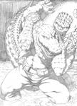 Leatherhead vs. Killer Croc