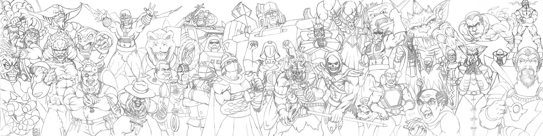 80s Cartoons Villains Wallpaper/Banner