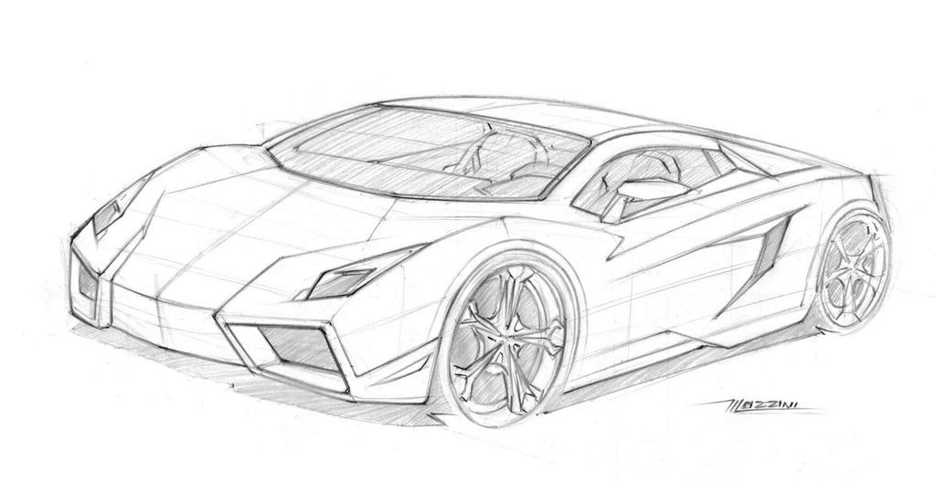 Sketch Lambo By Thiagomazzini