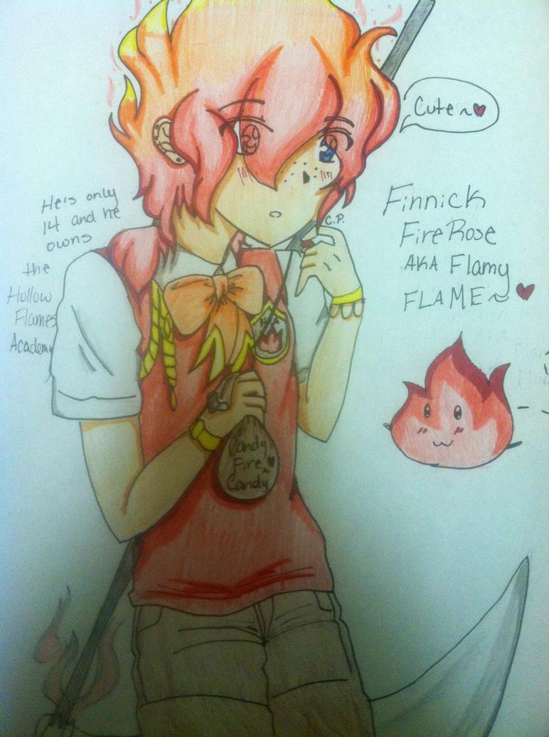 Finnick FireRose (Flamy Flame~ xD) by Momiji1999