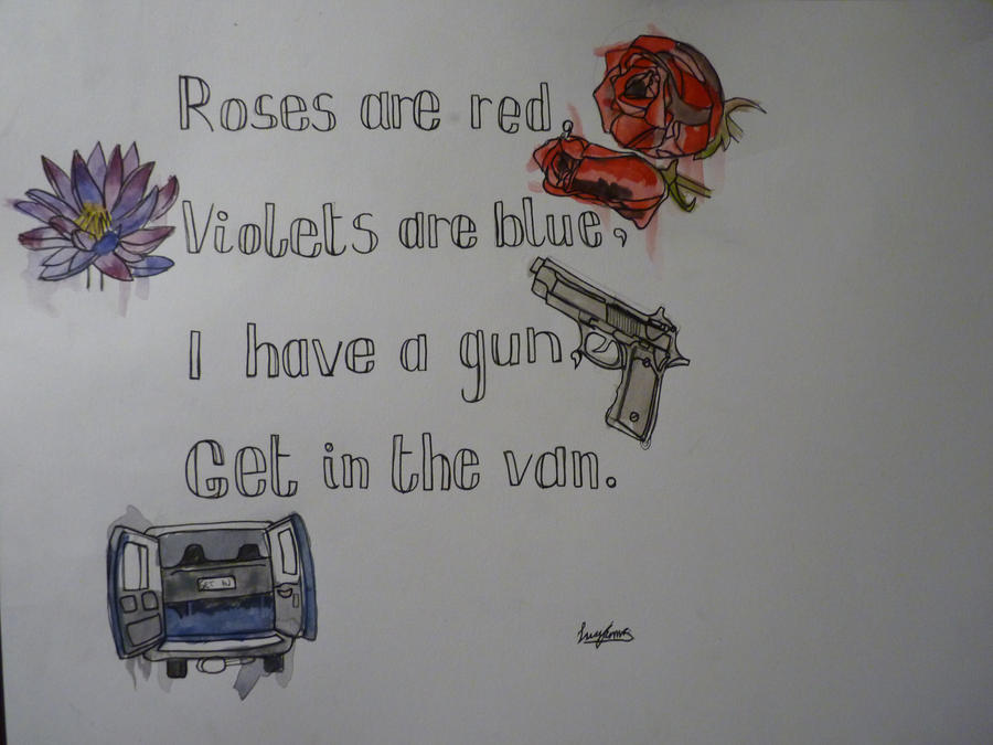 Roses are red, Violets are blue by EMZL on DeviantArt