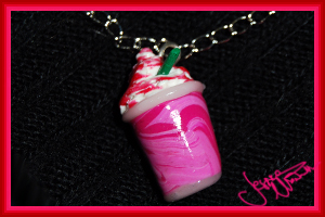 Strawberry Smoothie Charm by Jeyam-PClay