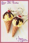 Sundae IceCream Cone -Earrings