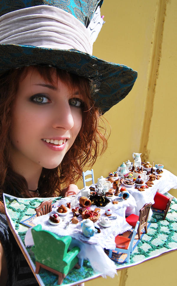 The Mad Hatter's Table and Me by Jeyam-PClay