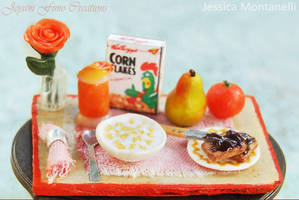 Miniature Breakfast Table 1:12 by Jeyam-PClay