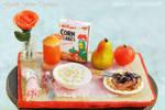 Miniature Breakfast Table 1:12
