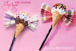 Ice Cream Bow bobby pin