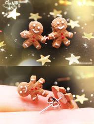 Mini Gingerbread Men - Earring