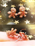 Mini Gingerbread Men - Earring