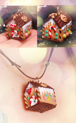 Gingerbread House - Necklace