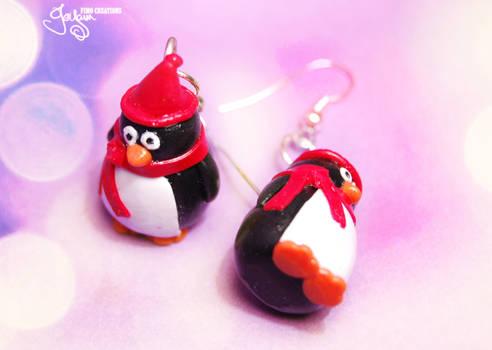Winter Penguins - Earrings