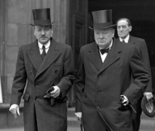 Clement Attlee and winston churchill