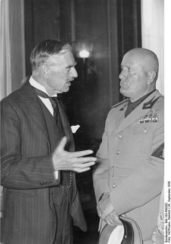 Chamberlain And Mussolini Munich Agreement 1938 By Yamalama1986 On