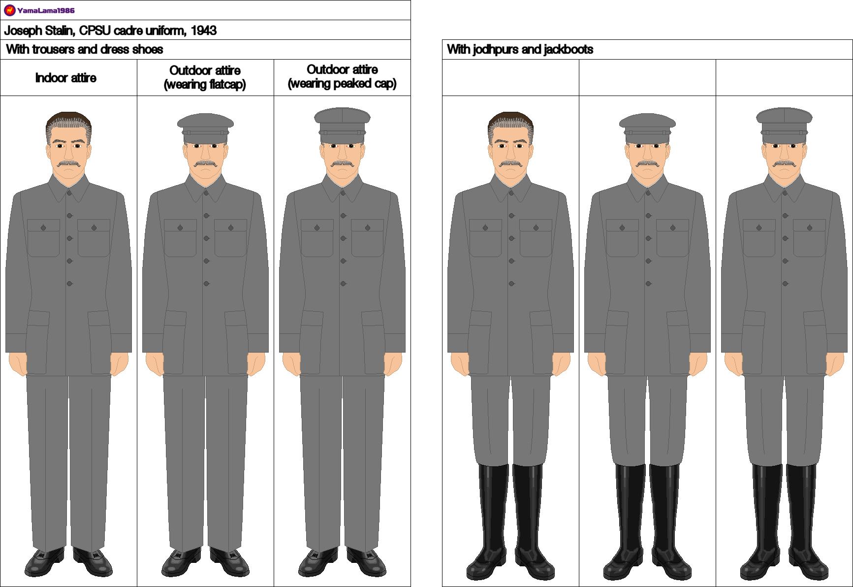 joseph stalin cpsu cadre uniform 1943 by yamalama1986 on deviantart. Black Bedroom Furniture Sets. Home Design Ideas