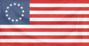 Rippled Flag United States 1777-95