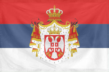 Rippled Flag Serbia State 1882-1918 by YamaLlama1986