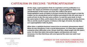 Benito Mussolini - on supercapitalism
