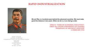 Iosif Stalin - rapid industrialization