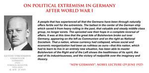 Gustav Stresemann - on political extremism