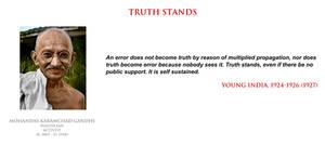 Mohandas Gandhi - truth stands