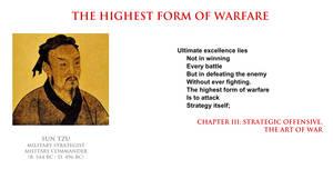 Sun Tzu - the highest form of warfare