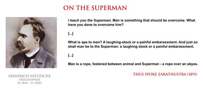 Friedrich Nietzsche - on the Superman